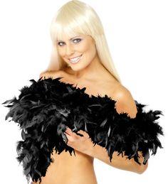 Black Deluxe Feather Boa 80g - 180cm