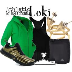 """""""Loki"""" by lalakay on Polyvore.. if not just for the earrings alone"""