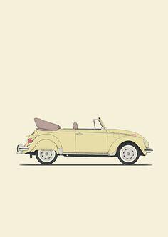 poster volkswagen beetle