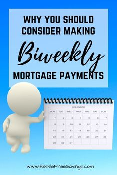 Monthly - Why you should consider making extra pa. Monthly - Why you should consider making extra payments on your mortgage each month regardless of your pay schedule! Mortgage Humor, Mortgage Tips, Mortgage Payment, Mortgage Rates, Best Budgeting Tools, Budgeting Finances, Biweekly Mortgage Calculator, Planer, Cash Money