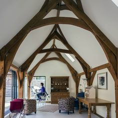 Award winning hand-crafted oak framed buildings, bespoke oak frame houses, and timber frame extensions as featured on Grand Designs. Oak Framed Buildings, Wooden Buildings, Cottage Extension, Garden Room Extensions, Oak Frame House, Bothy, Grand Designs, Cottage Interiors, Conservatory