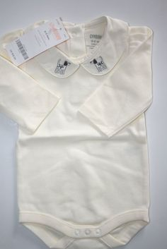 "$13.95 ~ Gymboree Baby Girl's Ivory Bodysuit Newborn Size 0 - 3 Months ""Dalmatian""  #Gymboree"