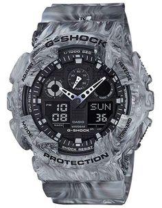 Casio G-Shock Mens Marble Series - Gray Camo - Analog/Digital - Anti-Magnetic