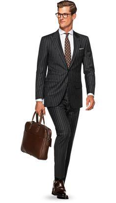 Suit Grey Stripe Washington P5298 | Suitsupply Online Store