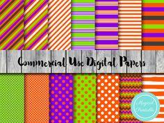 halloween digital papers, autumn, fall digital papers, halloween scrapbook papers
