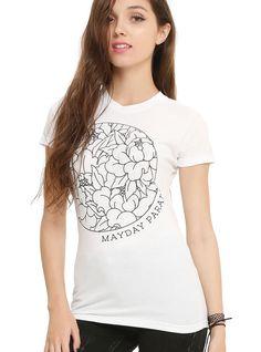 Mayday Parade Floral Circle Girls T-Shirt | Hot Topic