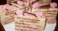 Gyümölcsös-csokis vienetta szelet Hungarian Recipes, Hungarian Food, No Bake Cake, Vanilla Cake, Tiramisu, Bakery, Food And Drink, Cooking Recipes, Sweets