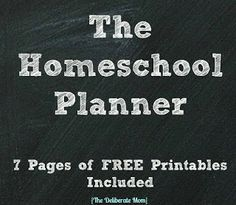 The Deliberate Mom: The Homeschool Planner {Free Printables Included}
