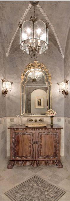 Old World, Mediterranean, Italian, Spanish & Tuscan Homes & Decor. - Home Decorations Tuscan Design, Tuscan Style, Elegant Home Decor, Elegant Homes, Tuscan Bathroom, World Decor, Spanish Style Homes, Tuscan House, Mediterranean Home Decor