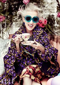 ELLE Canada Eccentrics Image - Life goals! This will be me when I am this fabulous lady's age.