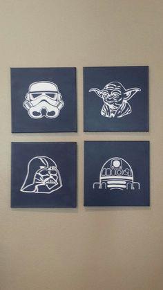 Items similar to Star Wars Nursery Decor Child Room Wall Art on Etsy Decoration Star Wars, Star Wars Room Decor, Star Wars Nursery, Baby Boy Themes, Baby Boy Rooms, Girl Rooms, Star Wars Kids, Star Wars Baby, Star Wars Zimmer