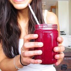The Hot Pink Monkey Smoothie: beet, carrot, banana, and ginger // inmybowl.com