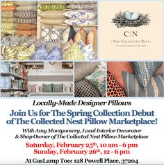 Join us for The Spring Collection Debut of Collected Nest Pillow Marketplace! Feb 25th & 26th! (Special discounts offered on those days!!)