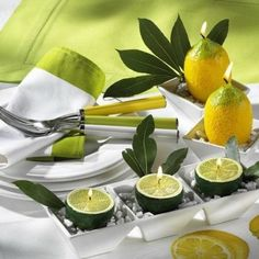 22 Modern Ideas for Table Decoration with Lemons and Yellow Green Color Combinations – DECOR FOR ALL Interior Styles, Home Decor Ideas, Decorating Themes Deco Nature, Bright Homes, Candle Centerpieces, Centerpiece Ideas, Centrepieces, Kitchen Centerpiece, Simple Centerpieces, Table Arrangements, Wedding Centerpieces