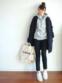 club Wood Working Mode Site - My Life ceaft Pinliy Cute Fashion, Girl Fashion, Fashion Outfits, Womens Fashion, Fashion Trends, Fashion Fall, Japanese Street Fashion, Korean Fashion, Japanese Winter Fashion