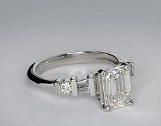 My ring: Round and Baguette Diamond Engagement Ring in Platinum
