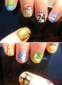 Pin for Later: 40+ Cool Manis For the Ultranerd Apps, Apps, and More Apps Photo courtesy of The Daily Nail