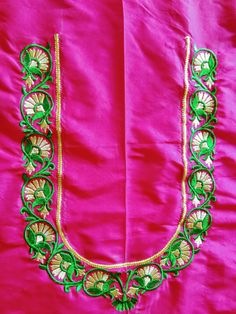 Peacock Embroidery Designs, Kurti Embroidery Design, Machine Embroidery Designs, Embroidery Works, Embroidery Suits, Hand Embroidery, Hand Work Blouse Design, Kids Blouse Designs, Simple Blouse Designs