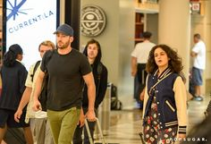 Pin for Later: Going Strong! Chris Evans and Jenny Slate Touch Down in LA Together
