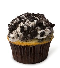 Oh Crumbs! – Our moist Oreo cupcake is topped with vanilla bean buttercream, then takes a ride through crushed Oreo cookie pieces.