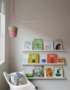 Bookshelves in kids/babies room, simple and functional