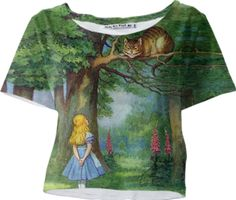 Cheshire Cat Sleeved Crop Top - Available Here: http://printallover.me/products/0000000p-cheshire-cat-8