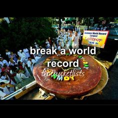 Break a world record