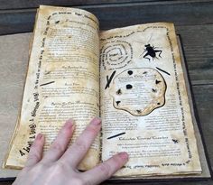 Spellbook! Can be used for family recipes :) How cute is that