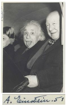 Iconic Photo of Einstein Sticking Out His Tongue Sells for $125,000