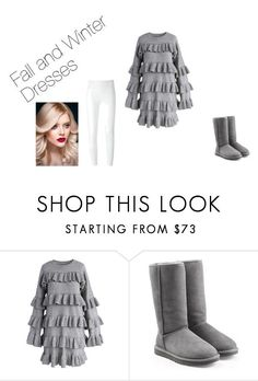 A fashion look from September 2017 featuring tiered ruffle dress, double faced cashmere coat and white side zip pants. Browse and shop related looks. Dressy Outfits, Cute Summer Outfits, Winter Outfits, Cute Outfits, Fashionable Outfits, Emo Outfits, Work Outfits, Korean Street Fashion, Asian Fashion