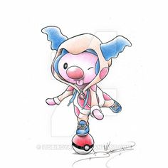 Mime Jr Clowning around in a Mr. Mime Onsie by ItsBirdyArt on deviantART Pokemon Fusion, Pokemon Go, Baby Pokemon, Pikachu Art, Pokemon Pins, Pokemon Fan Art, Mr Mime, Cute Pokemon Wallpaper, Pokemon Cosplay