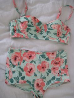 high waisted I'd wear it  ! love bathing suits like this