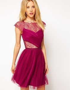 Enlarge ASOS Skater Dress with Cobweb Lace