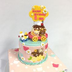 mcakesjapan❤️Kawaii Character cake❤️ #ほのぼの系 #キャラクター #可愛い #好き系 #クマ系 #プリンの馬車 #ケーキ #誕生日ケーキ #シュガーペースト #kawaii #japanesecharacter #cake #kawaiicake #charactercake #gateau #pateasucre #fondantcake #paste #japanesemade #japan #