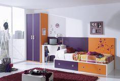 Si tienes muros blancos en tu recámara puedes darle color con tus muebles y accesorios