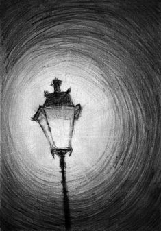 Old Street Lamp Art Print