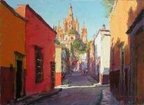 Oil paintings by Artist Tom Dickson,Plein Air Workshops,San Miguel
