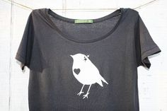 Womens Bird Tshirt with Heart Tee - Alternative Apparel - Women ...