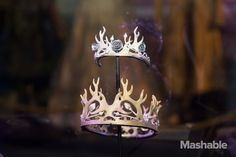 Crowns worn by Margaery Tyrell and Joffrey Baratheon on display.