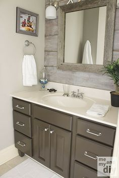 Paint the master vanities a deep brown? Betsy Ross House Brown - Valspar