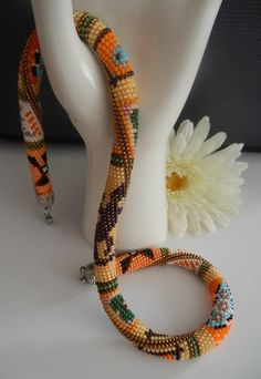 Beaded Crochet Necklace.Häkelkette Afrika von Inspiration auf DaWanda.com