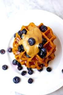 Healthy Sweet Potato Waffles - To Live & Diet in LA