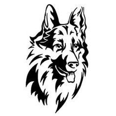 Long Haired German Shepherd Car Sticker  SALE PRICE$8.95