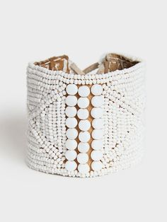 Beaded Leather Cuff | DARA Artisans