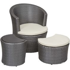 $358.99 <strong>Matrix</strong> Boca Outdoor 3 Piece Lounge Chair with Cushion