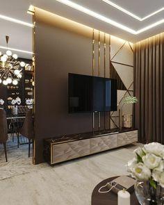 Top 10 Modern TV Unit Interior Designs Living Room Units, Living Room Wall Designs, Ceiling Design Living Room, Family Room Design, Cozy Family Rooms, Cozy Living Rooms, My Living Room, Tv Unit Interior Design, Tv Wanddekor