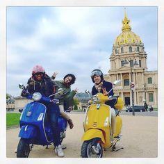 You'll always have a great day with a #vespa! #✌️ #paris #vespagram #gts #sprint #doyouvespa #fun #travel #ridensmileparis #parisjetaime #parismonamour #iloveparis #👊✊️