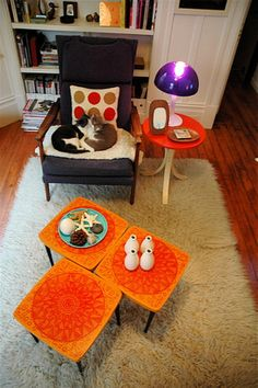 """Coffee Table Cluster - stick to odd numbers.  """"Strategies for Decorating Coffee Tables"""" on HGTV"""