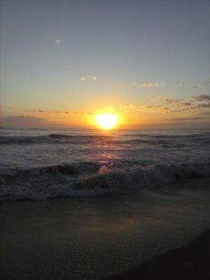 Sunrise over St. Augustine,  Florida beach