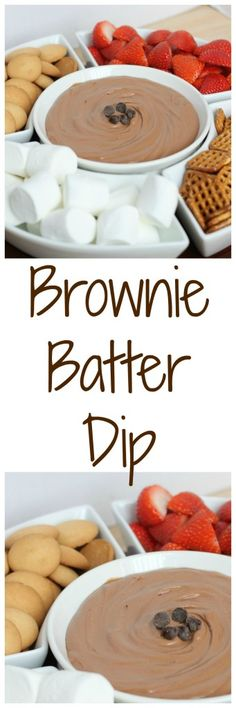 Brownie Batter Dip! The perfect dip to indulge your sweet tooth! | Stick a Fork in It